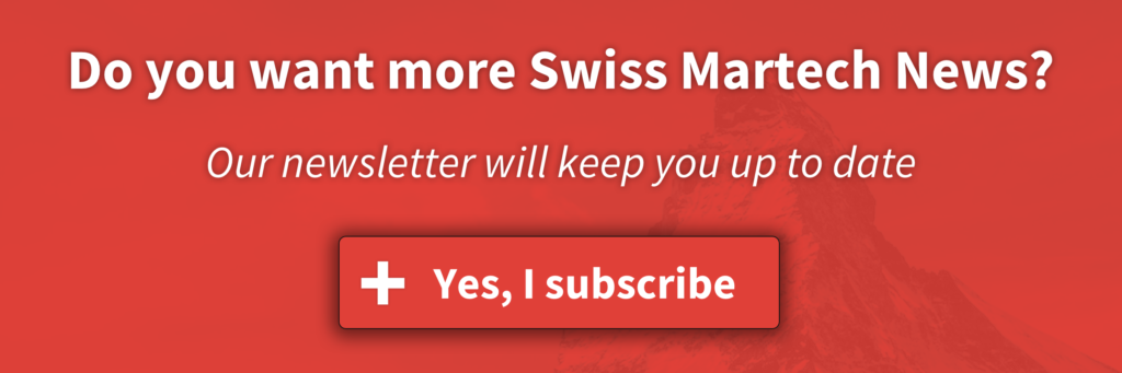 Swiss Martech - Subscribe to the newsletter